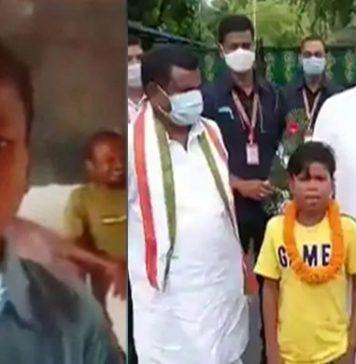 Young boy, viral for 'Bachpan Ka Pyar', gets felicitated by Chhattisgarh CM