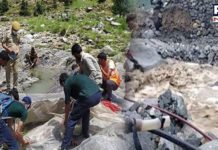 As per reports, floods have also been reported from Machail, Paddar and Bunjwah in the district.