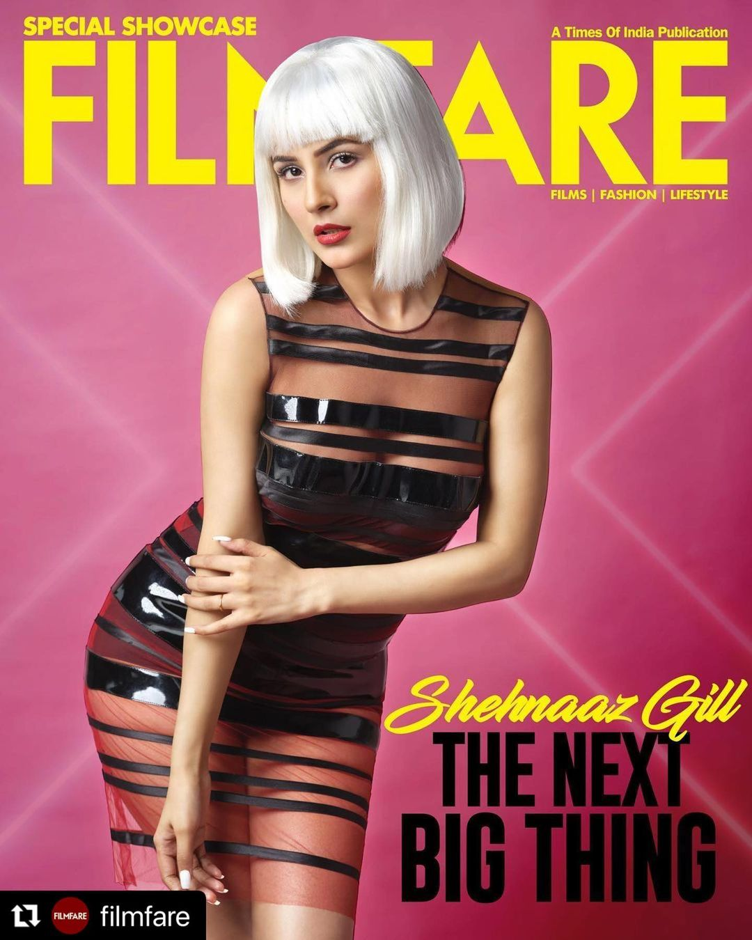 Another milestone! Shehnaaz Gill features on cover of Filmfare magazine