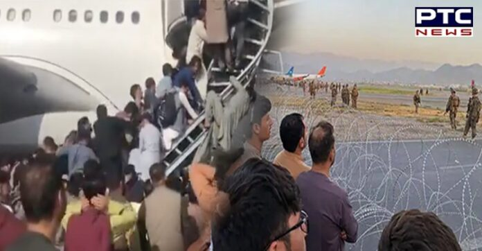 Afghanistan: US troops fire shots in air at Kabul airport as crowd mobs tarmac   PTC NEWS
