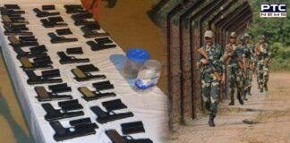 Punjab: 22 pistols, 44 magazines smuggled from Pakistan seized in Khemkaran