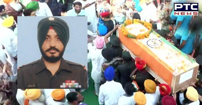 Martyred Naib Subedar Jaswinder Singh was to return home in two days