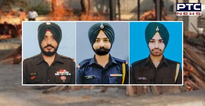 Three Army jawans martyred in Poonch cremated at native places